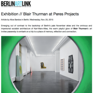 Berlin ARt link Blair Thurman